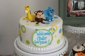 safari themed boy baby shower coconut cake w passion fruit and