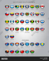 South America Flags Set Round Glossy Flags All Vector U0026 Photo Bigstock