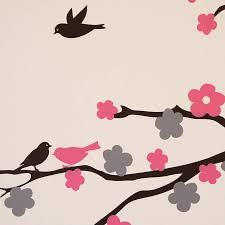 floral blossom tree wall stickers by parkins interiors floral blossom tree wall stickers