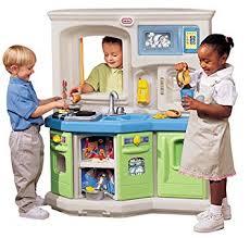 Little Tikes Wooden Kitchen by Amazon Com Little Tikes Cookin Fun Interactive Kitchen Toys U0026 Games
