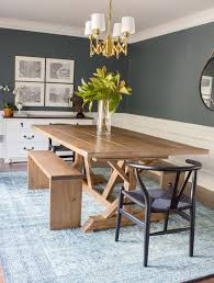 modern farmhouse dining room modern farmhouse dining table u0026 benches erin spain