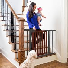 Baby Gates For Stairs No Drilling Qdos Safety Baby Gates Modern Wood Baby Gates