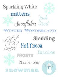 winter printable subway art free printable and winter