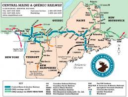 new england central railroad map head of new maine railroad company says he s building transportation