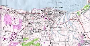 The Map Of Puerto Rico by Arecibo Topographic Map Puerto Rico