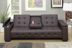 black leather futon sofa with cup holder tags 49 fascinating