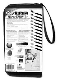amazon com drawing and sketching pencil set in zippered carrying case
