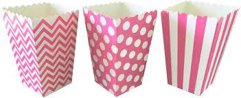 polka dot boxes pink stripe chevron and polka dot popcorn treat boxes 36 pack pc