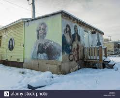 chetwynd stock photos chetwynd stock images alamy murals on wall of a building in snow chetwynd british columbia canada