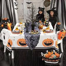 ourwarm 40inch round halloween tablecloth black spider web lace