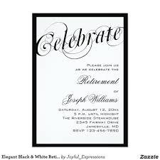 Retirement Invitation Card Invitaciones Negras Y Blancas Elegantes Del Fiesta Invitación 5