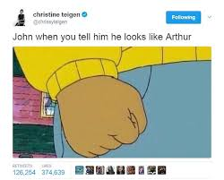 John Legend Meme - chrissy teigen trolls john legend arthur easter pics