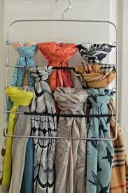How To Hang Scarves On Curtain Rods by 5 Ways To Organize Scarves U2013 Hip2save
