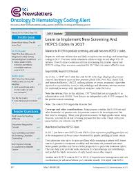 oncology and hematology coding alert newsletter