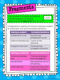fragments and run ons for interactive notebooks rockin resources