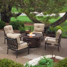 Patio Furniture Sets With Fire Pit by Red Ember Richland 48 In Round Propane Fire Pit Table With
