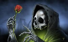 halloween skeleton wallpaper dark gothic skull skulls reaper grim roses rose death skeleton
