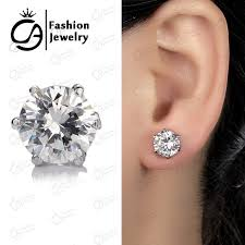 cubic zirconia stud earrings cz stud earrings white gold accent 14k white gold 3mm