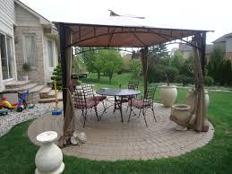 backyard home theater backyard landscaping present beautiful urn and wooden gray pergola