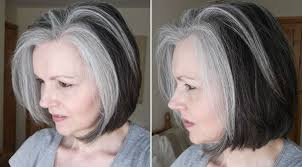 black lowlights in white gray hair transitioning into grey hair 40plusstyle com hair pinterest
