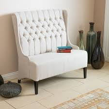 Love Seat Sofa by Contemporary Living Room W Light Beige Wingback Loveseat Sofa
