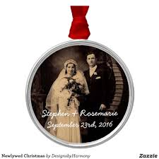 newlywed christmas metal ornament metals ornaments and newlyweds