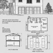 Two Story Garage Plans With Apartments Garage Plans Three Car Two Story Garage With 2 Bedroom Apartment