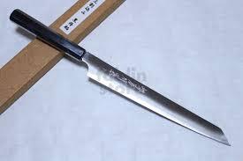 sakai takayuki ginsan ebony wood handle japanese knife silver 3