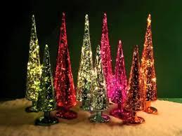 80047 20 set of 2 led mercury glass trees