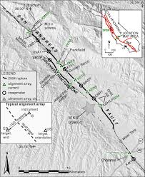 Us Geological Earthquake Map Long U2010term Afterslip Of The 2004 M 6 0 Parkfield California