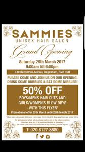 Salon Invitation Card Sammies Unisex Salon Danielc81407302 Twitter
