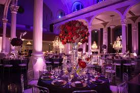 greek orthodox church ceremony glamorous purple u0026 gold reception