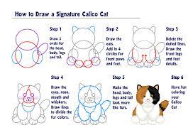 how to draw a signature calico cat wkn webkinz newz