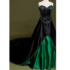 sale embroidery vintage gothic wedding dress real photo black