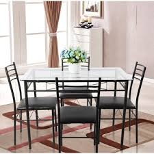 Glass Dining Room Furniture Adorable Design Vecelo Glass Dining - Glass dining room table set