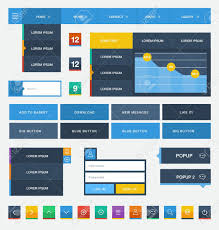 flat user interface design kit royalty free cliparts vectors and