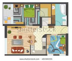 Home Design Plans Ground Floor Ground Floor Plan Floorplan House Home Stock Vector 74222734