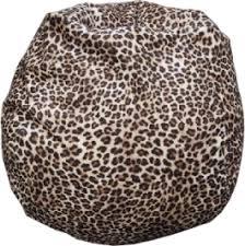 leopard print animal fabric bean bag chair