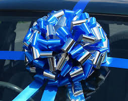 large gift bow big car bow large gift bow in shiny metallic mix superfast