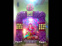 ganpati flower decoration youtube