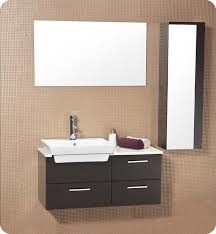 bathroom vanity with side cabinet caro 36 inch espresso modern bathroom vanity with mirrored side cabinet