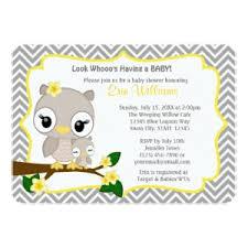 owl baby shower invitations baby shower invitations