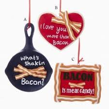bon appetit themed ornaments and city