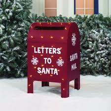 letters to santa mailbox time 32 metallic christmas mailbox walmart