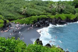 black sand beach hawaii discover pa iloa beach the gorgeous black sand beach of wai