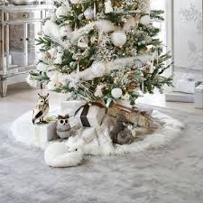 snow leopard faux fur tree skirt it s faux