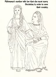 st philomena a picture to colour philomena and her mother