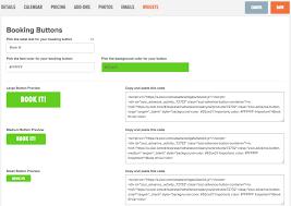 how do i insert a booking button on my website u2013 zozi advance
