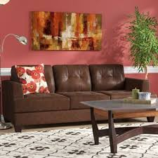 The Best Leather Sofas Leather Furniture You Ll Wayfair