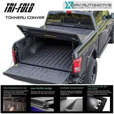 Ford F350 Truck Bed Covers - tri fold tonneau cover fit 2014 2016 silverado sierra 5 8ft 69 6in